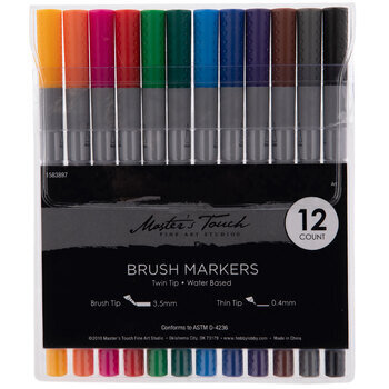 Master's Touch Twin Tip Brush Markers