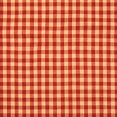 Red Rustic Woven Gingham Cotton Calico Fabric