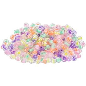Pastel Glass Seed Bead Mix - 6/0