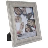 Brushed Silver Beveled Frame