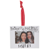 Sisters Frame Ornament