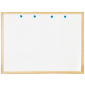 White Dry Erase Monthly Organizer Board With Wood Frame