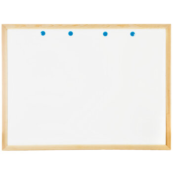 """White Dry Erase Board with Wood Frame - 36"""" x 48"""""""
