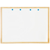 White Dry Erase Board with Wood Frame - 36