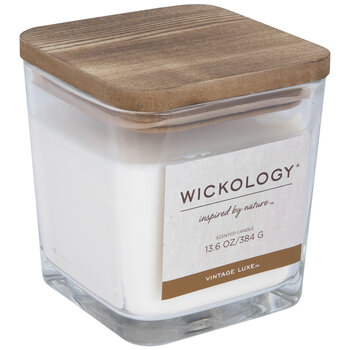 Vintage Luxe Wood Wick Jar Candle