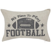 It's Time To Play Football Pillow