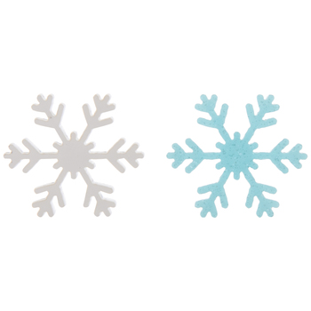 Blue & White Snowflake Embellishments