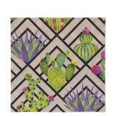 Pink Geometric Print Succulent Napkins - Large