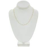 """Curved Link Necklace Chain - 18"""""""
