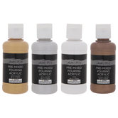 Metallic Master's Touch Pre-Mixed Pouring Acrylic Paint Set