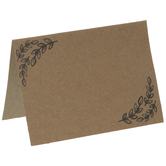 Kraft Leaf Place Cards