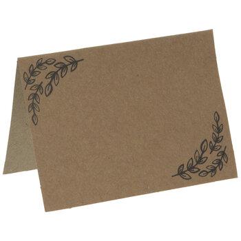 Kraft Leaf Place Cards