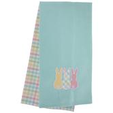 Pastel Plaid Bunnies Kitchen Towels