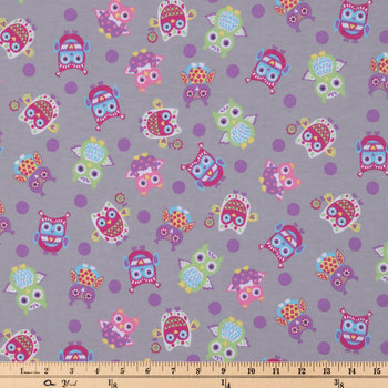 Owl Toss Flannel Fabric