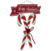 Glitter Candy Canes Wreath Embellishment