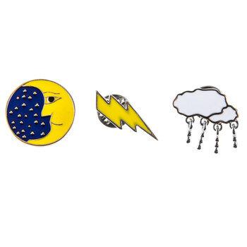Weather Enamel Pins