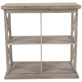 Farmhouse Three-Tiered Cube Shelf