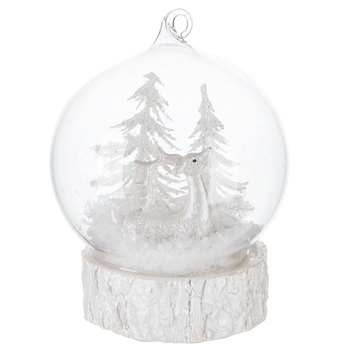 Deer LED Globe Ornament