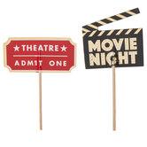 Movie Night Cupcake Toppers