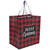 Red & Black Buffalo Check Gift Bag