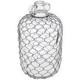 Black Chicken Wire Jug Vase