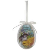 Easter Greetings Sugared Egg Ornament