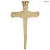 Gold Nail Faith Metal Wall Cross