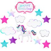 Unicorn Birthday Cutouts