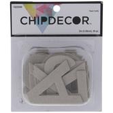 Sans Serif Alphabet Chipboard Letters