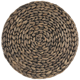 Black Wash Hyacinth Round Placemat
