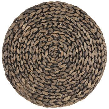 Black Wash Hyacinth Round Placemat