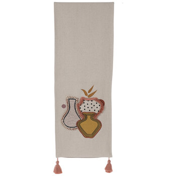 Embroidered Vases Table Runner