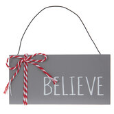 Believe Plank Ornament