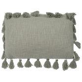 Sage Green Tassel Pillow