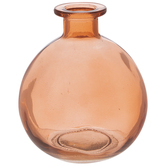 Peach Round Glass Vase