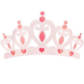 Pink Crown Metal Wall Decor