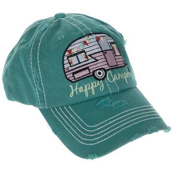 Happy Camper Baseball Cap