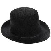 Black Mini Felt Top Hat