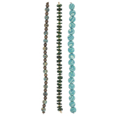 Teal & Green Bead Strands