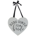 Here Comes The Bride Heart Wood Wall Decor