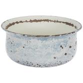 Blue Rustic Metal Flower Pot