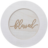 Blessed Wood Plate Charger