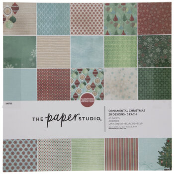 "Ornamental Christmas Cardstock Paper Pack - 12"" x 12"""