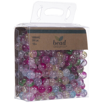 Multi-Color Crackle Round Beads