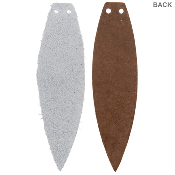 Gray & Tan Feather Leather Earring Blanks