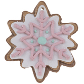 Pink Snowflake Gingerbread Cookie Ornament