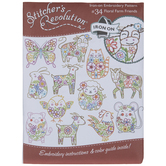 Floral Farm Friends Embroidery Transfer Sheet