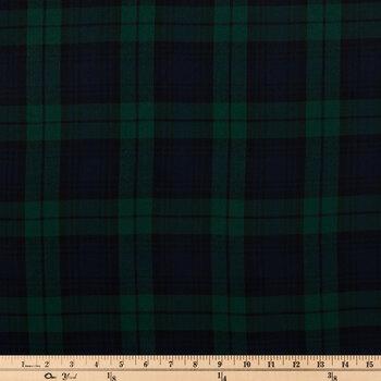 Green & Navy Plaid Apparel Fabric