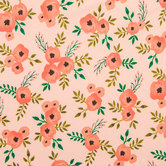 Blush Watercolor Rose Knit Fabric
