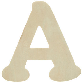 """Wood Letters A - 4"""""""